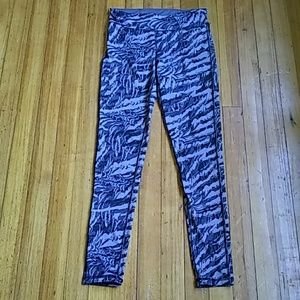 Live love dream pants size medium purple and black